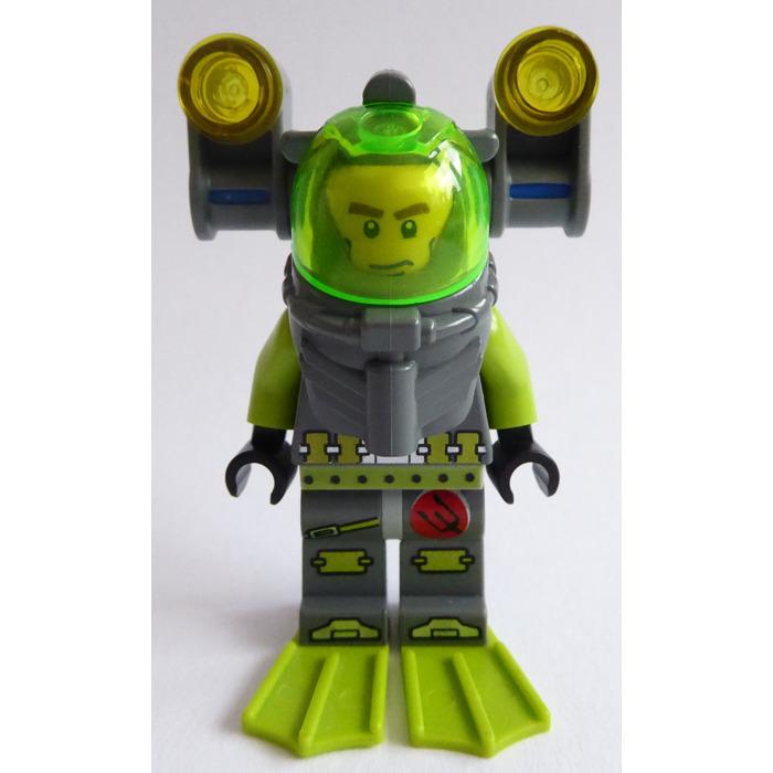 Lego 87754 Divers Helmet with Air Tanks Dark stone grey with colour choice visor