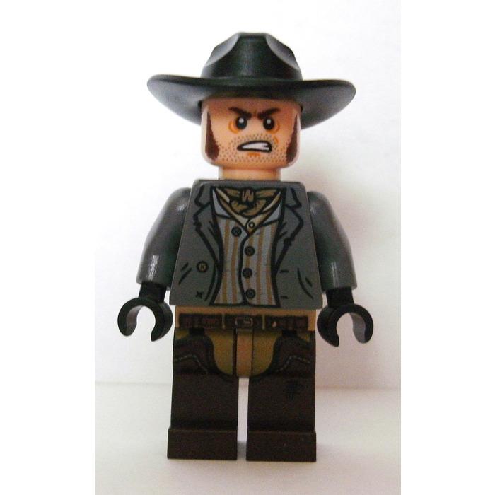 1x Minifig headgear hat chapeau cowboy beige foncé//dark tan 13565 NEUF Lego