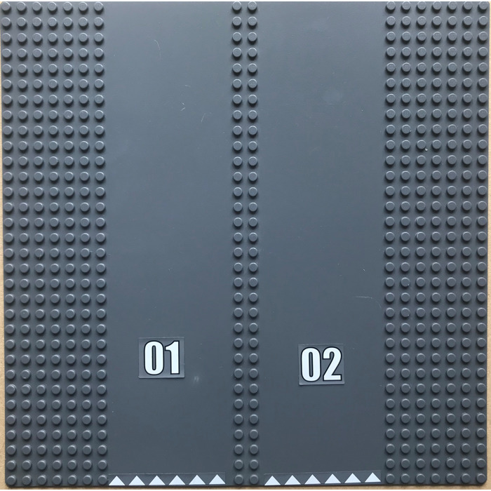 25cm x 25cm Stud Base Plate Dark Grey Number Plate MARKED Ref 25 Lego 32 x 32