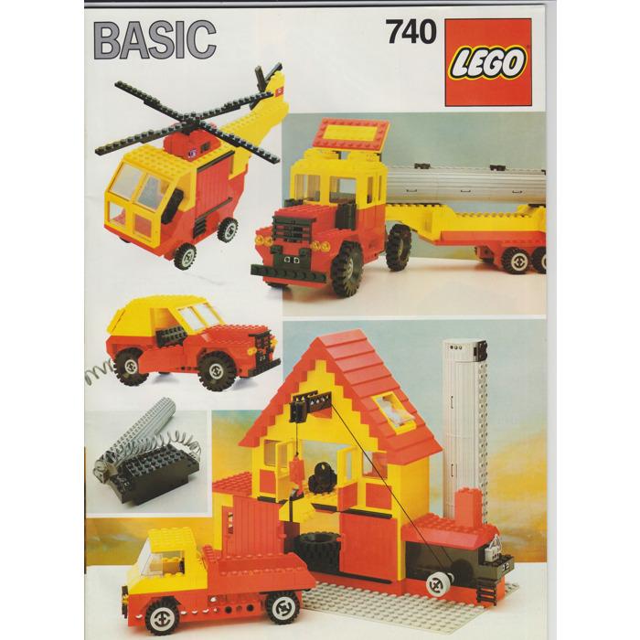 Lego Basic Building Set 7 Set 740 1 Instructions Brick Owl