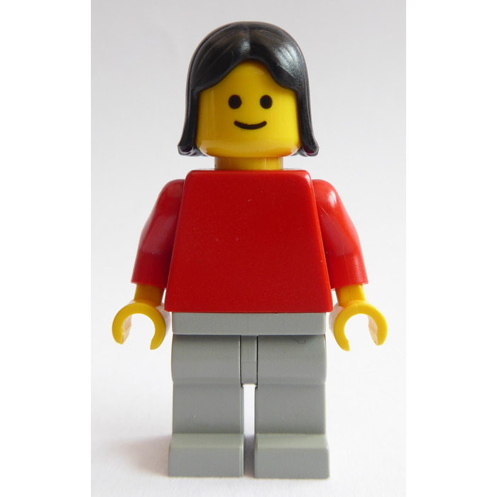 a23 96859 x1 Lego 4530-Shoulder length hair with centre parting