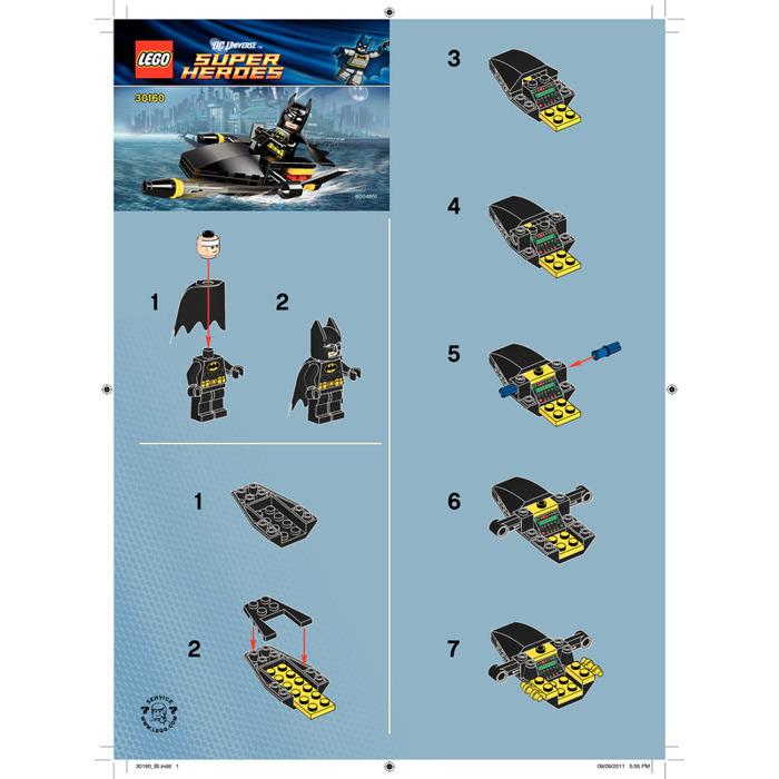 LEGO Batman Jetski 30160 Instructions | Brick Owl - LEGO ...