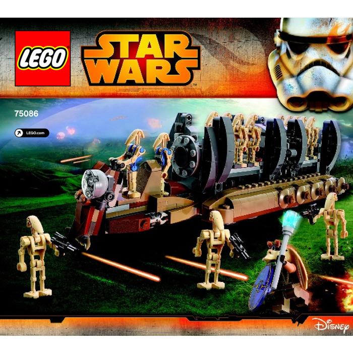 Lego battle droid troop carrier set 75086 instructions for Siege lego france