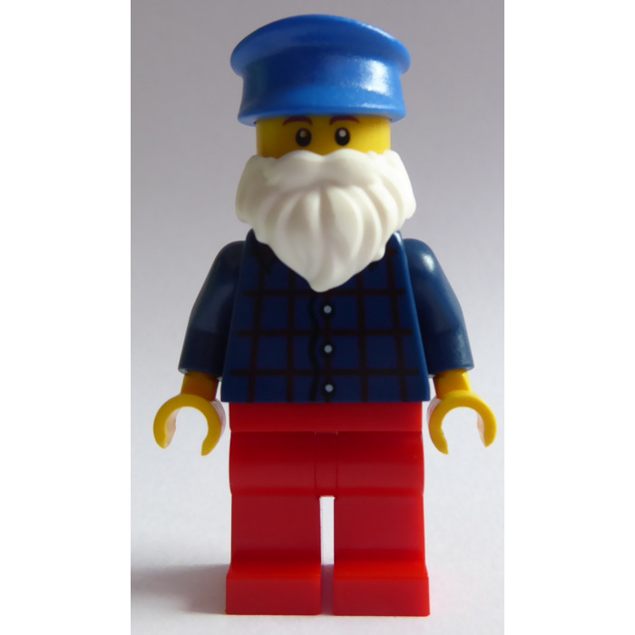 Dark Orange + White King Lego Beards 93223 Santa style for Minifigures NEW