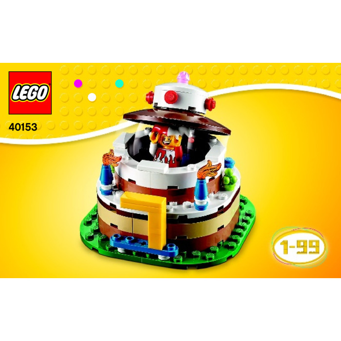 Lego birthday table decoration set 40153 instructions for Decoration lego