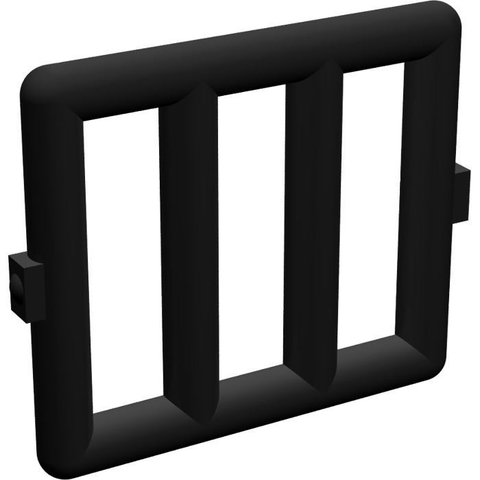 Lego black bar 1 x 4 x 3 with 2 window hinges 6016 comes for 2 x 3 window