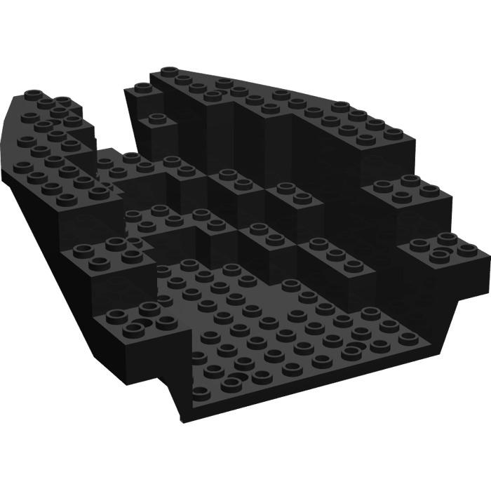 LEGO Black Boat Stern 12 x 14 x 5 & 1/3 Hull Inside (6053) | Brick ...