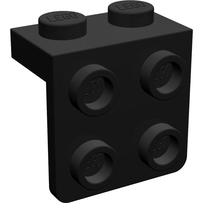 LEGO Parts~8 Bracket 1 x 2-2 x 2 BLACK  44728