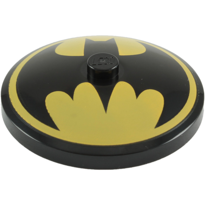 LEGO Black Dish 4 X Inverted With Batman Logo 76631