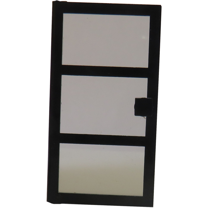 Lego Black Door 1 x 4 x 6 with 3 Panes /& Stud Handle Trans-Black Glass Lot of 6
