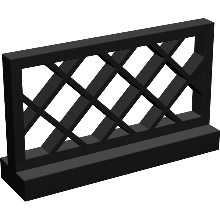 Lego Black Fence Lattice 1 X 4 X 2 3185 Brick Owl