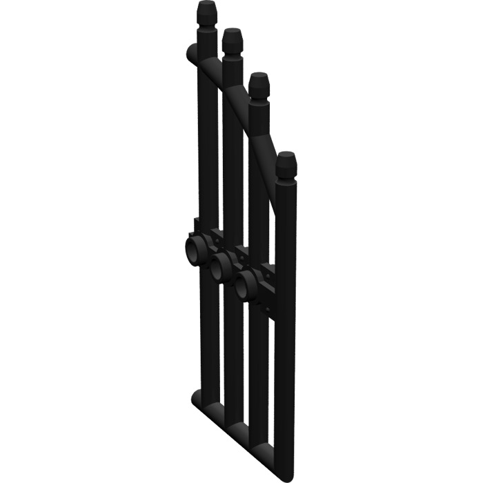 Lego 4x window fenêtre 1x2x2 grille Pane Lattice Diamond noir//black 38320 NEUF