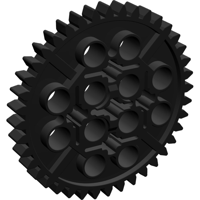LEGO Black Gear with 40 Teeth (3649)