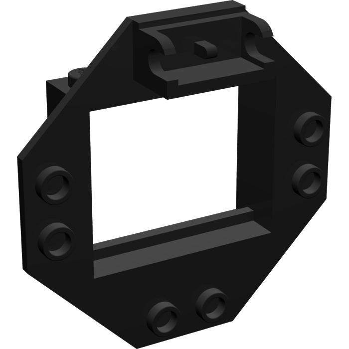 LEGO 2443 Black Hinge Window Frame 1 x 4 x 3 with Octagonal Panel