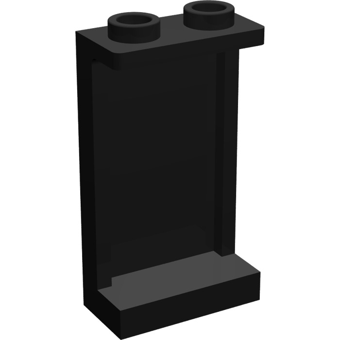 Lego Lot of 50 New Black Panels 1 x 2 x 3 with Side Supports Hollow Studs Parts