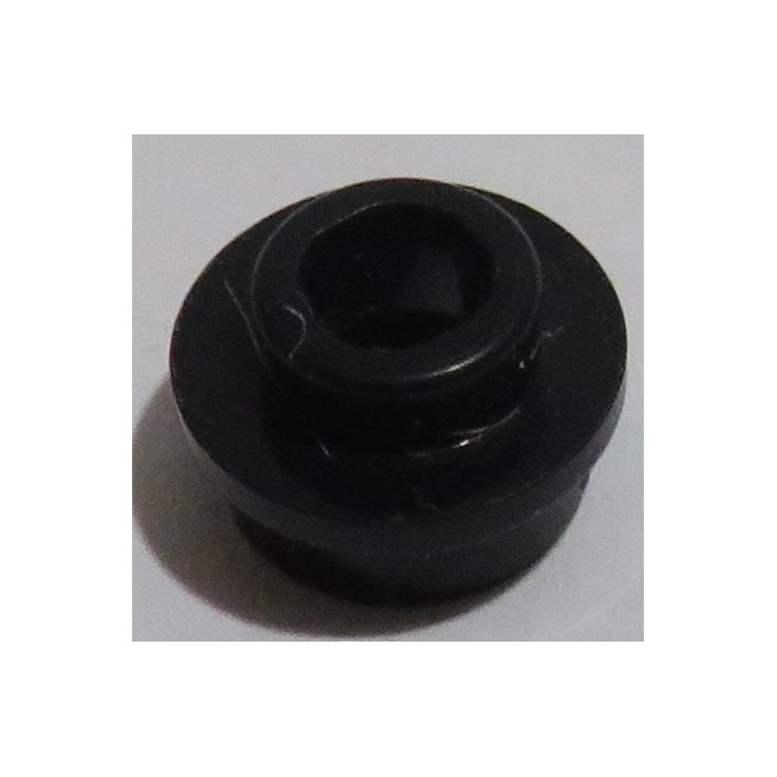 85861 Black x 6 Lego Plate Round 1 x 1 with open stud Part No