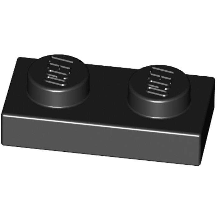 10 x 3023 lego plate plate 1x2 Black black new new