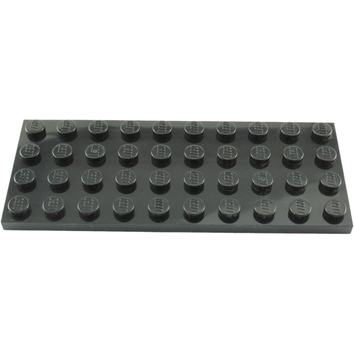 4 NEW LEGO Plate 4 x 10 Black