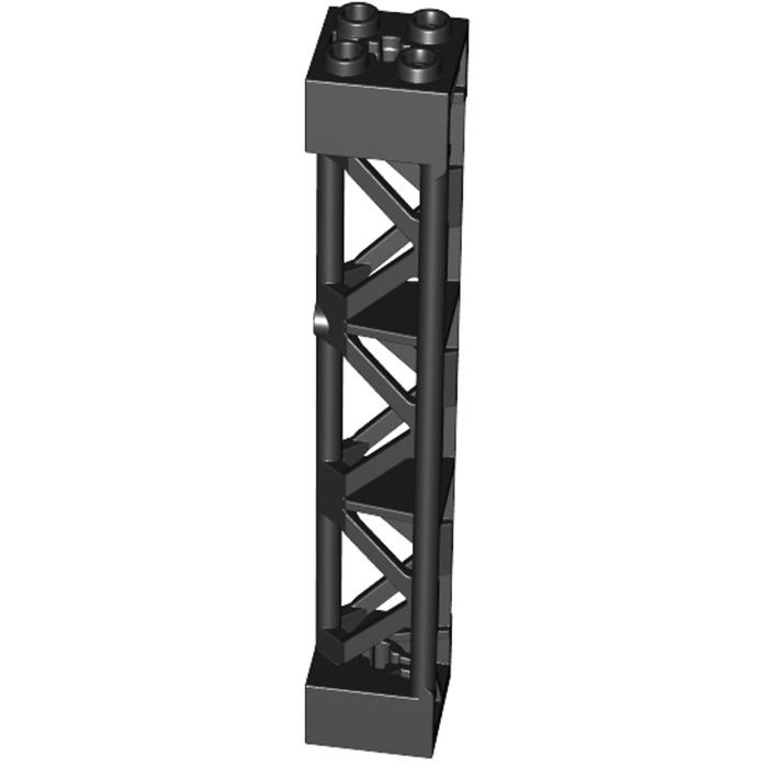 LEGO Parte 4667463 Torre A TRALICCIO 2x2x10 con croce nera 95347 x 2 parti