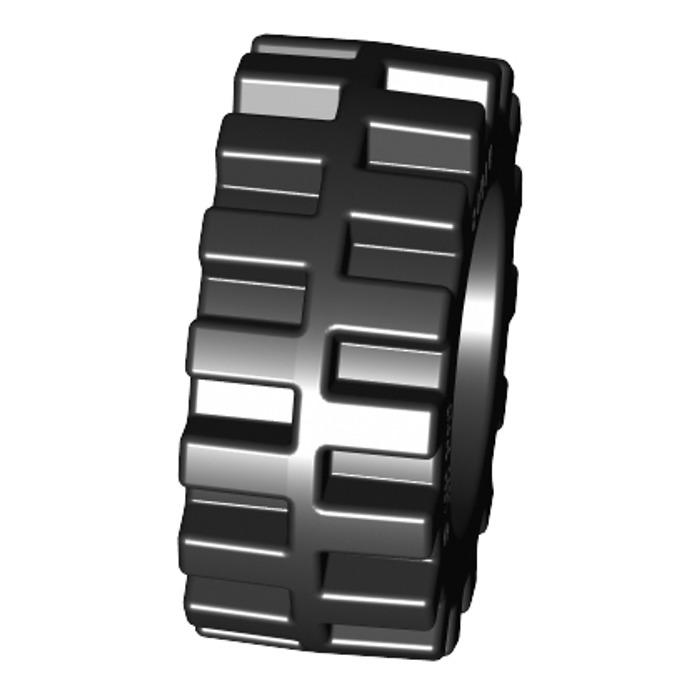 Band Around Center of Tread LEGO 20 Black Tires Wheels Offset Tread