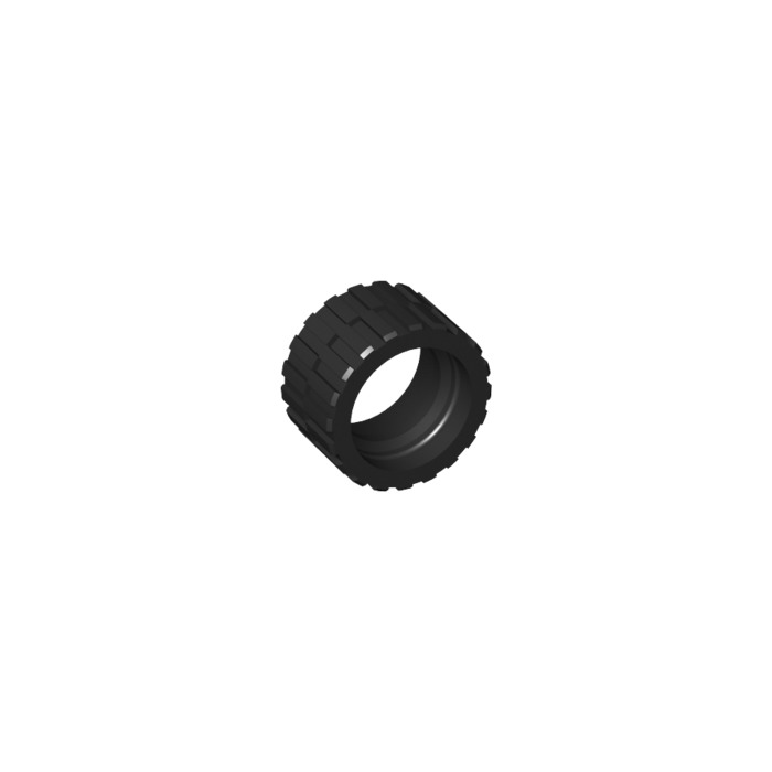 LEGO Black Tire 24 x 14 Shallow Tread (Tread Small Hub) without Band around  Center of Tread (30648)