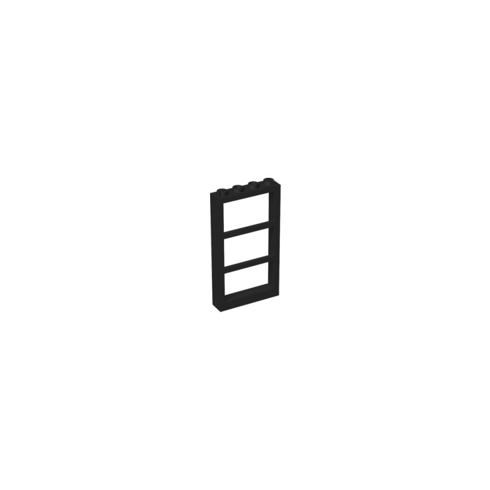 lego black window 1 x 4 x 6 frame with three panes 57894
