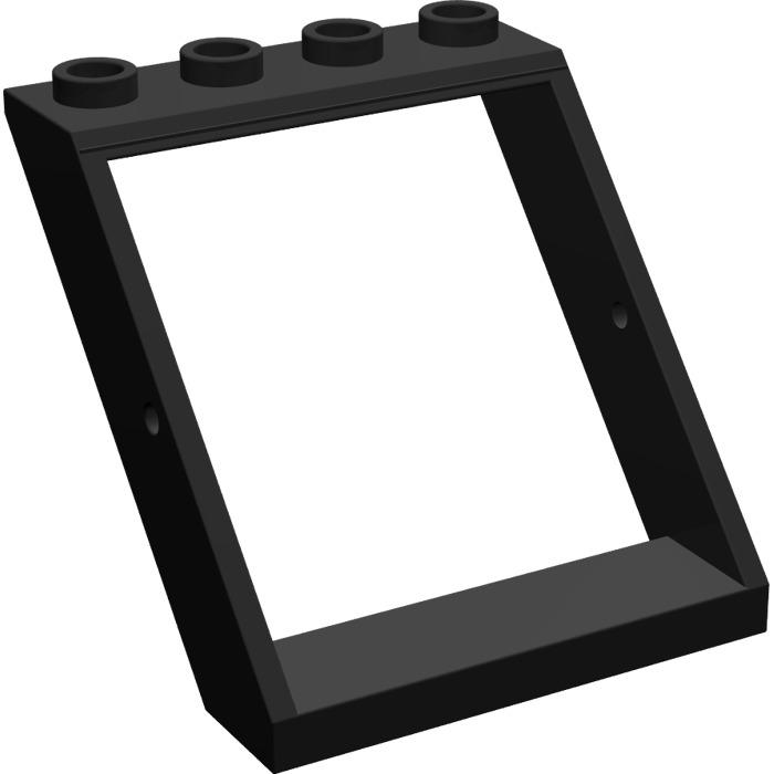 Lego black window 4 x 4 x 3 roof 4447 brick owl lego for Window design 4 4