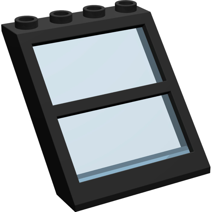 Lego window 4 x 4 x 3 roof with centre bar and transparent for Window design 4 4