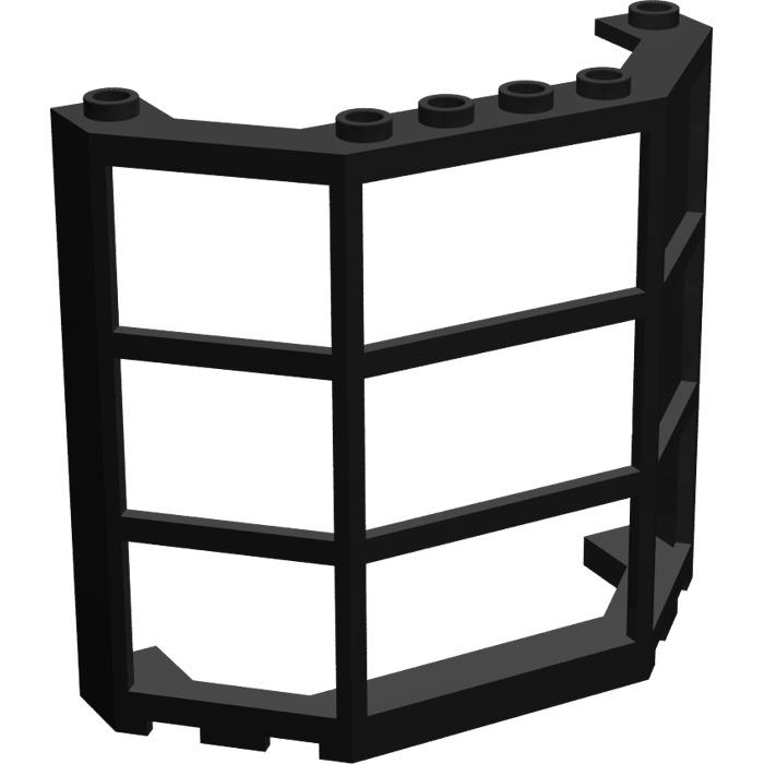 LEGO Black Window Bay 3 x 8 x 6 (30185)