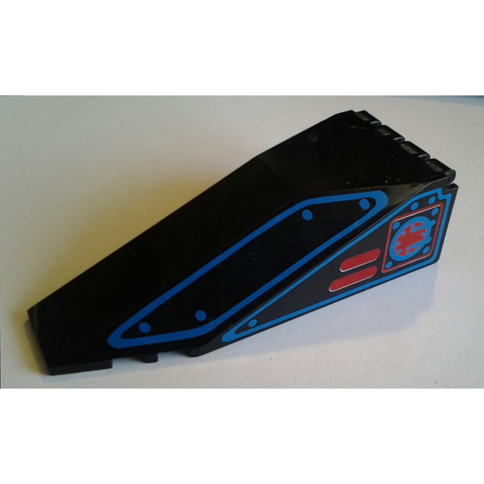 LEGO Black Windscreen 10 x 4 x 2.33 Canopy with Blue Outlines and Red Square  sc 1 st  Brick Owl & LEGO Black Windscreen 10 x 4 x 2.33 Canopy with Blue Outlines and ...