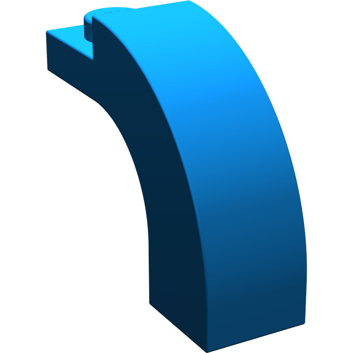 6 NEW LEGO Brick Arch 1 x 3 x 2 Curved Top Blue