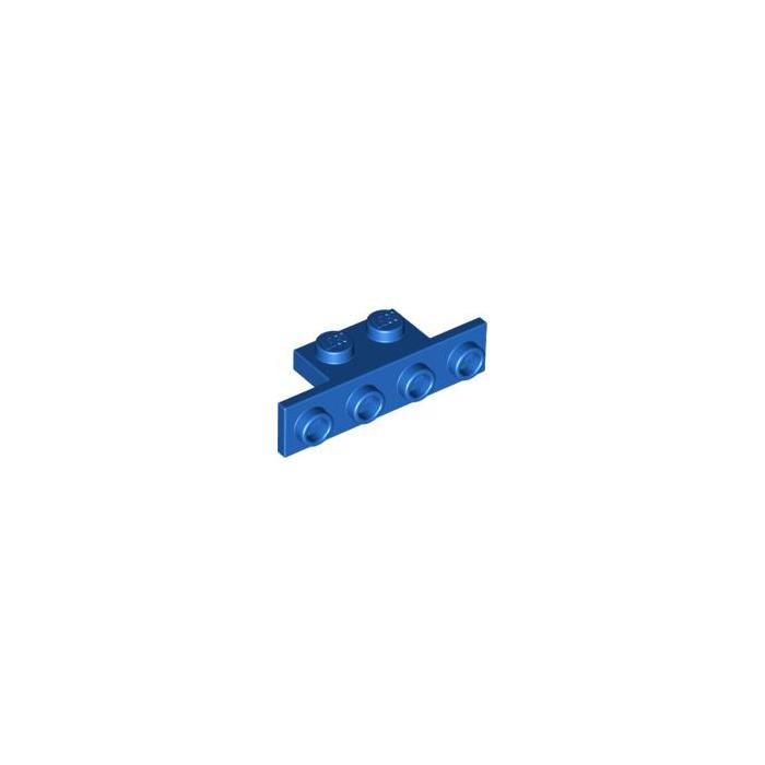 Lego 5 New Light Bluish Gray Bracket 1 x 2-1 x 4 with Rounded Corners Pieces