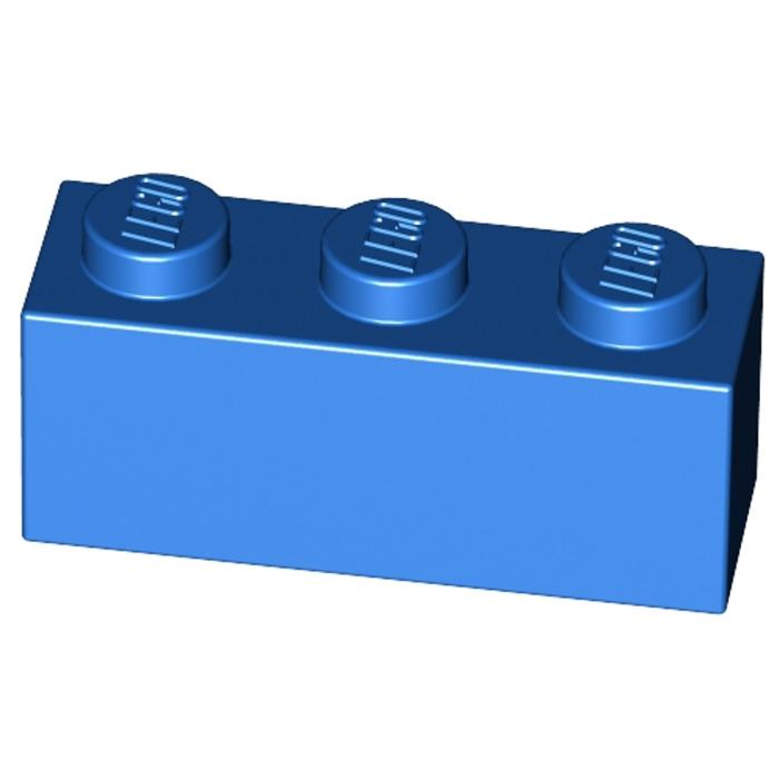 Blue Bright Blue 6 x lego 3622 Brick Brick 1x3 New New