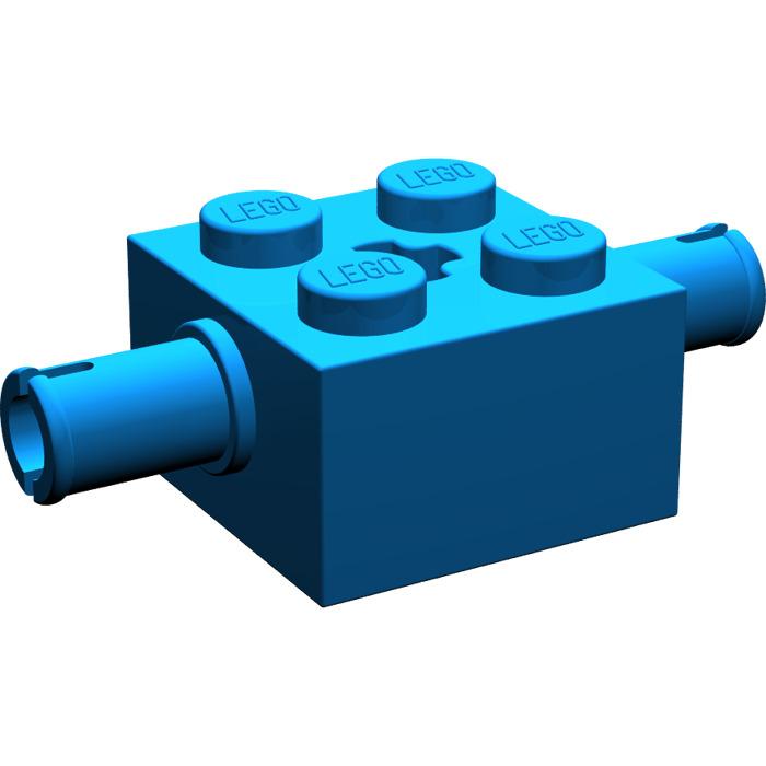 LEGO Parts No 30000 QTY 10 Blue Brick 2 x 2 w Pins and Axle Hole