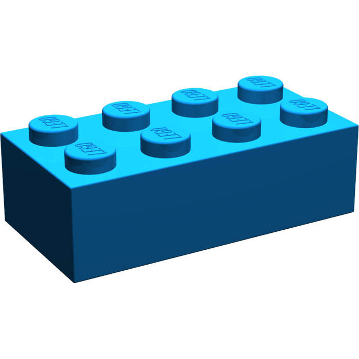 LEGO Blue Brick 2 x 4 (3001) | Brick Owl - LEGO Marketplace