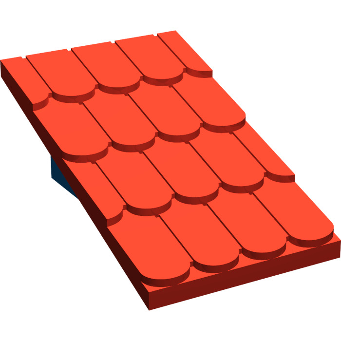 Marvelous LEGO Fabuland Roof Support With Red Roof Slope And No Chimney Hole (787)