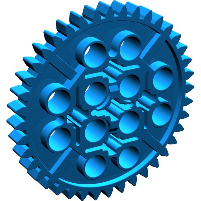 LEGO LOT 10 X ENGRENAGE GEAR WHEEL 40T LIGHT BLUISH GRAY  REF 34432 6195314
