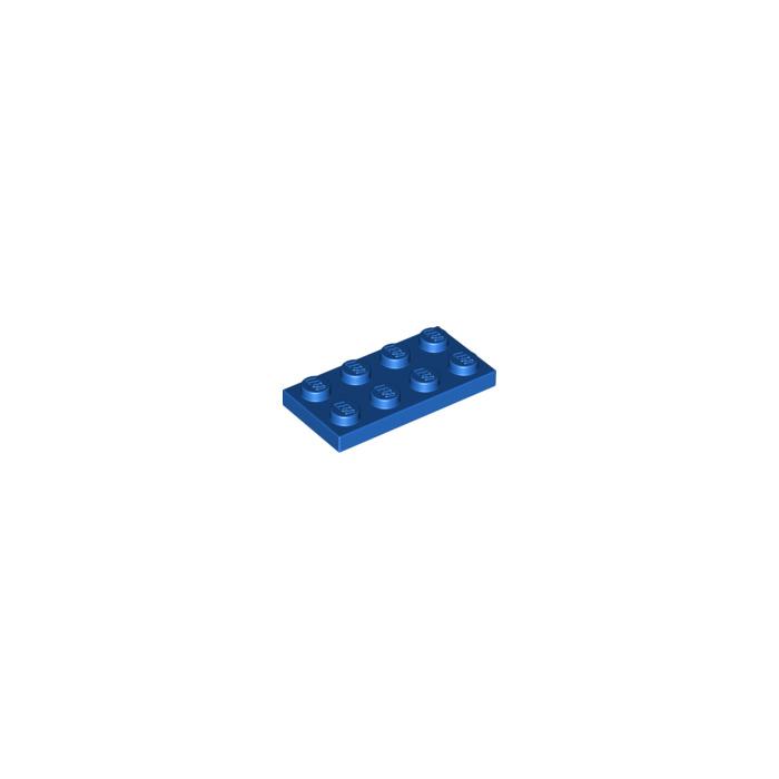Blue 8 ~ 2x4 Medium Azur Standard Plate Brick Bricks  ~ Lego  ~ NEW