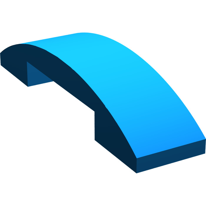4649773 Brick 93273 10x LEGO NEW 1x4 Blue Slope Curved Double