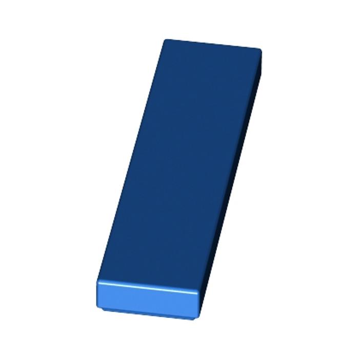 LEGO Lot of 8 Medium Blue 1x4 Smooth Flat Tiles