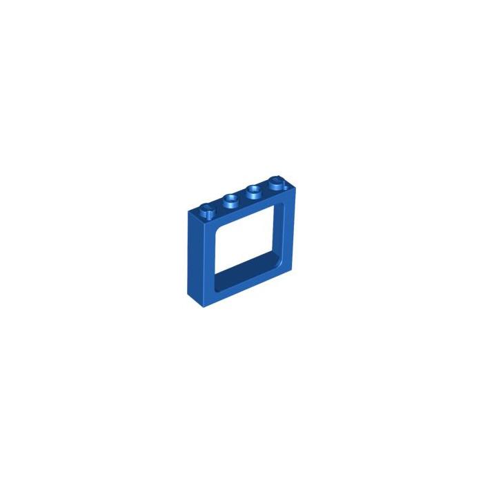 Lego bleu train window 1 x 4 x 3 new 6556 brick owl for Fenetre lego
