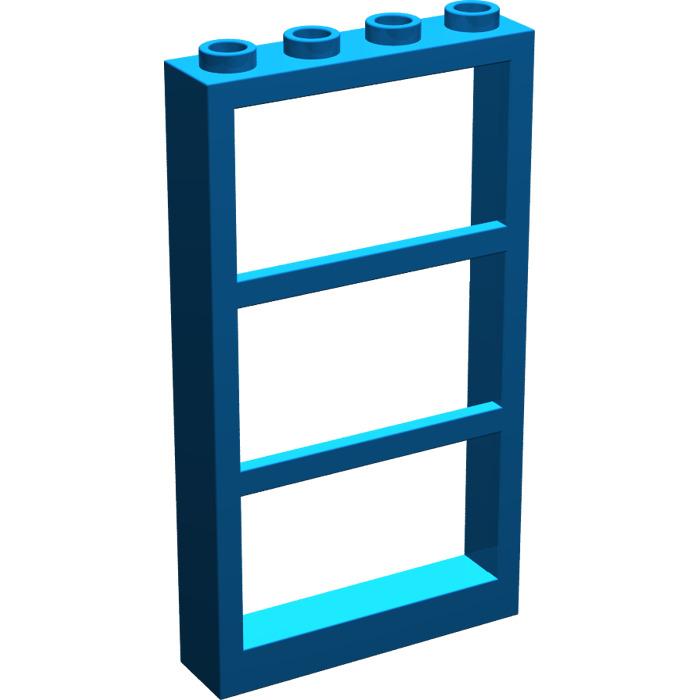Lego window 1 x 4 x 6 with 3 panes 6160 brick owl for 2 x 3 window