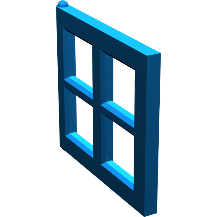 Lego blue window 2 x 4 x 3 pane 4133 brick owl lego for Window design 4 4