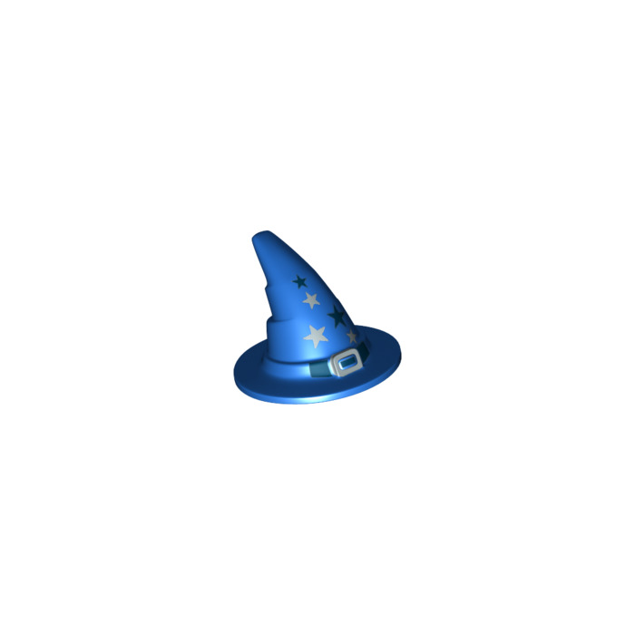 lego blue wizard wizard hat older style with smooth surface