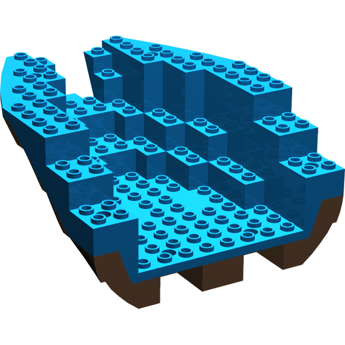 how to build a lego boat hull