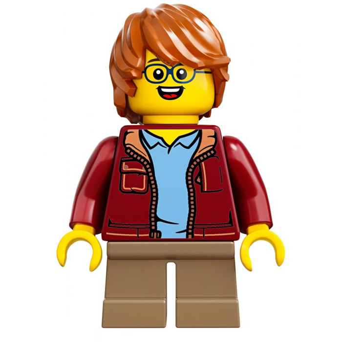 Lego 1x Minifig cheveux coiffure hair tousled ébouriffé dark orange 87991 NEUF
