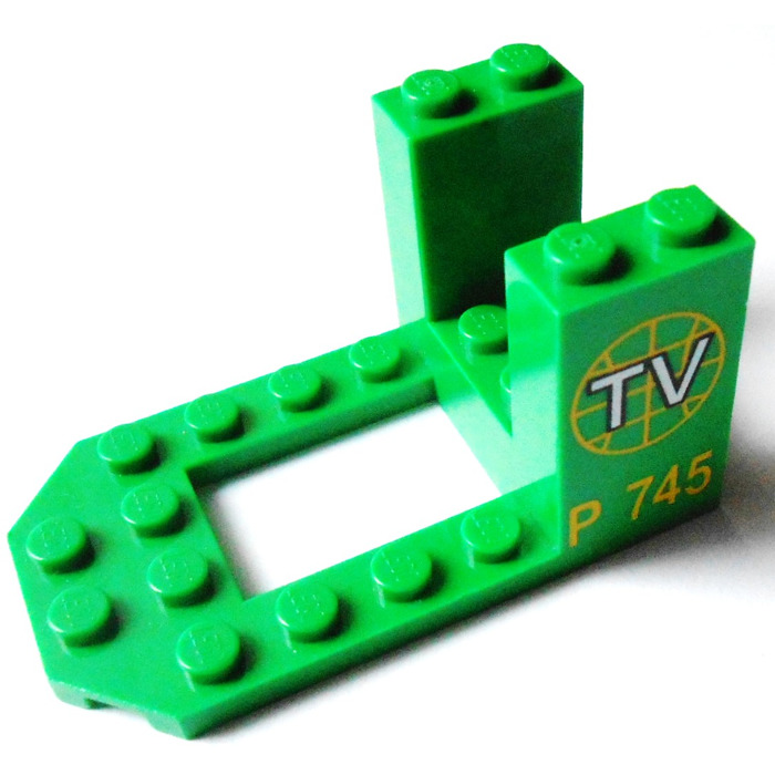 Lego Bracket 4 X 7 X 3 With Decoration  30250