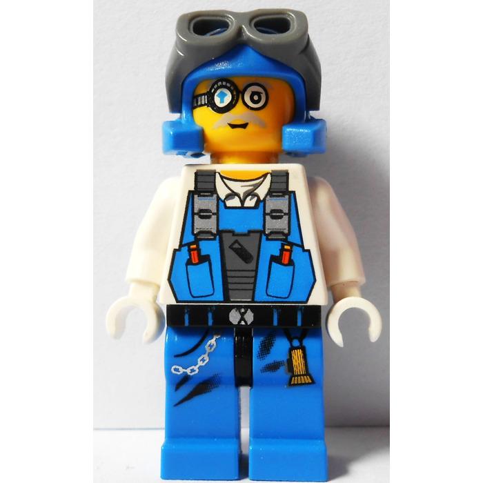 LEGO MINIFIG MINI FIGURE POWER MINERS ORANGE SCAR SETS 8958 8709 GRANITE GRINDER