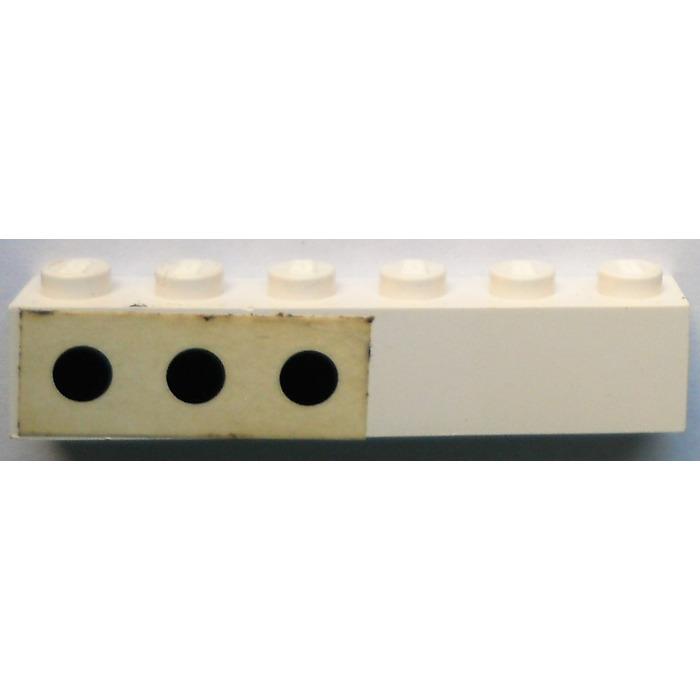 LEGO® Black Brick 1 x 6 Design ID 3009