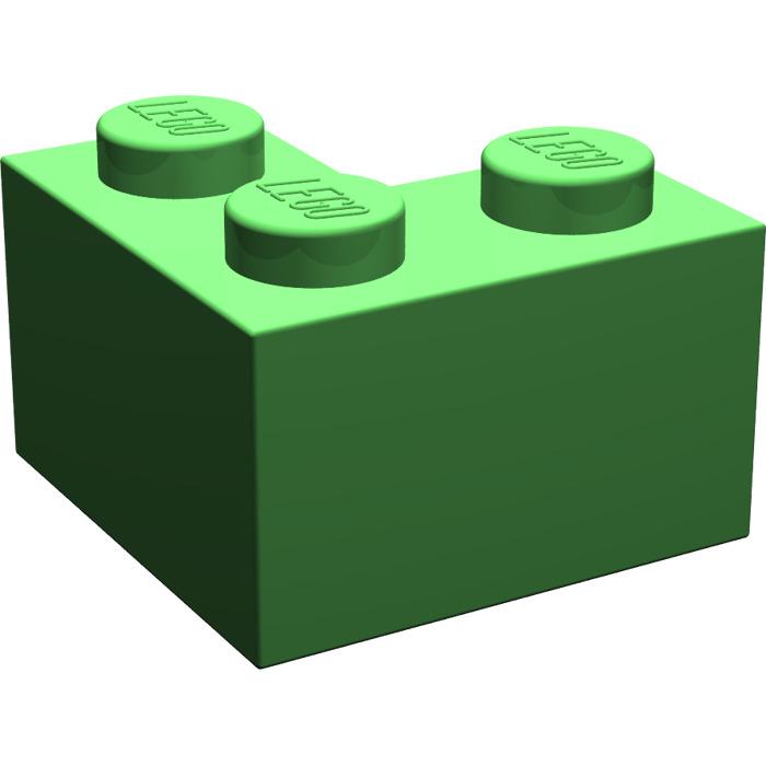LEGO PART 2357 Brick 2 x 2 Corner grey//white//blue//Tan//Dark red x 1